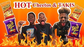 HOT CHEETOS AND TAKIS CHALLENGE (Whoever Wins First Gets $100)