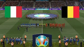 Belgium vs Italy Quarter Finals UEFA EURO 2020 FIFA 21