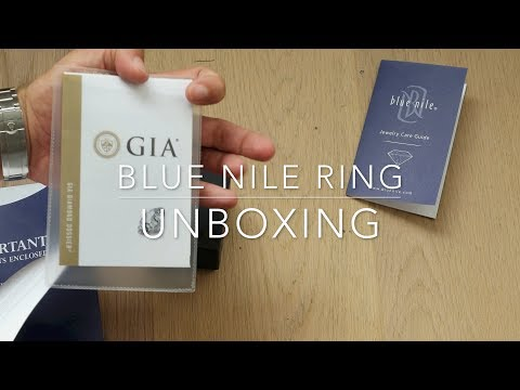 Blue Nile ring unboxing