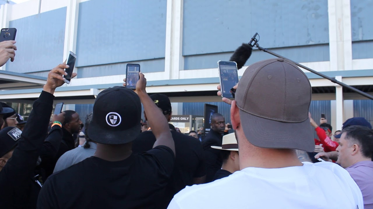 Download Deontay wilder walking to the weigh ins Tyson fury