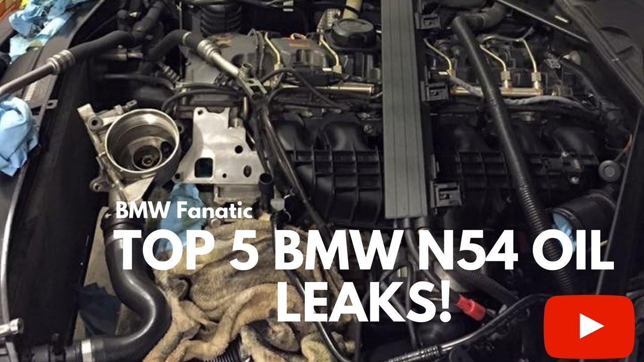 Top 5 BMW N54 135i 335i 535i Maintenance Oil Leaks!  YouTube