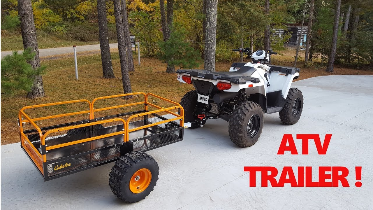Cabela's XT1500 Off-Road ATV Trailer - Quick Look ! - YouTube
