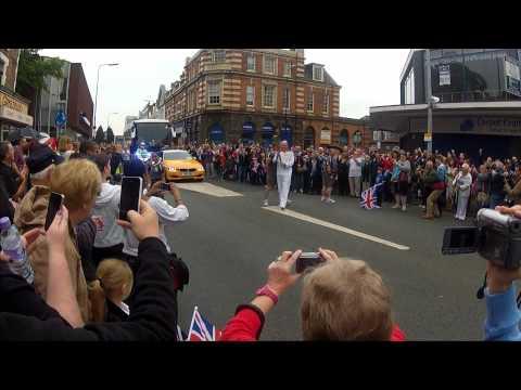 Olympic Torch Relay in Crewe (HD) London 2012