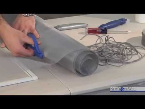 How-to Install Aluminum Window Screen