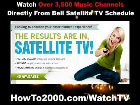 Bell Satellite TV Schedule | Watch Over 3500 Music Channels!