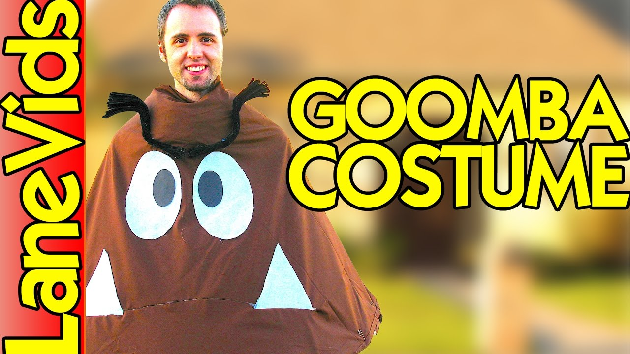 best super mario bros goomba halloween costume | homemade goomba