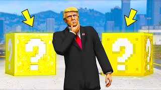 Mr President Opens LUCKY BLOCKS... But What's Inside?! (GTA 5 Mods)