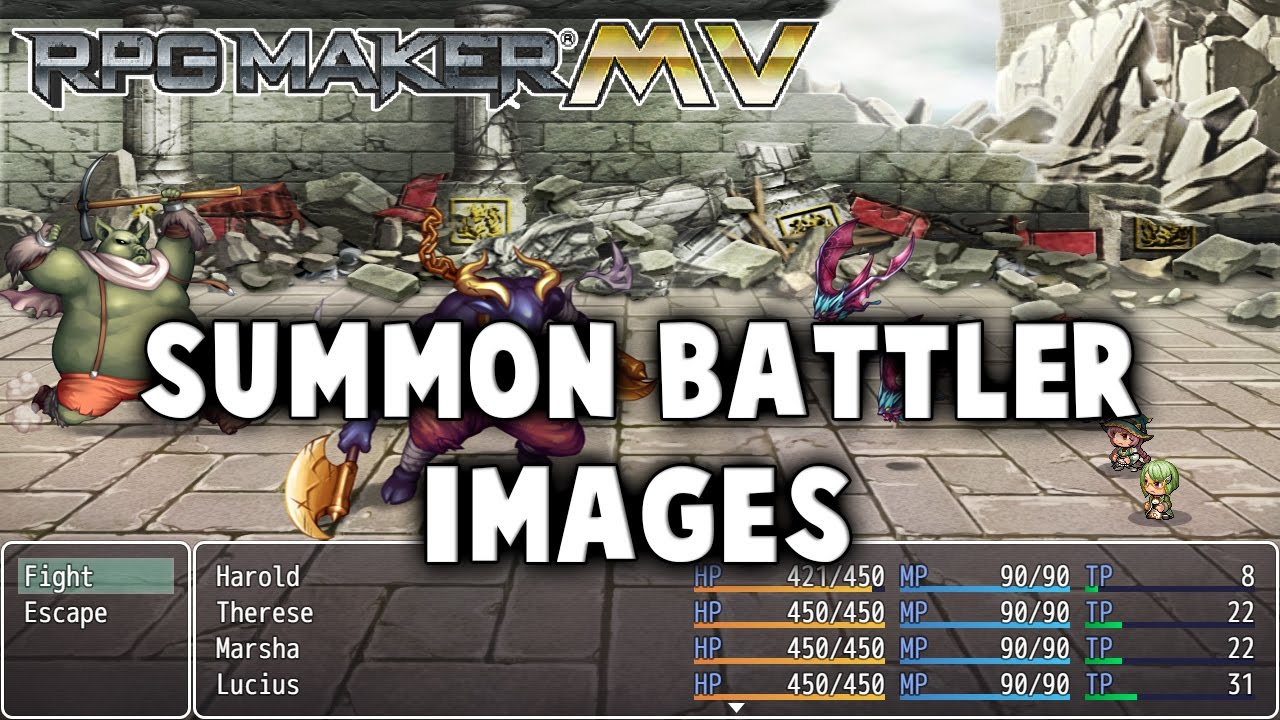 Summon Battler Images – MV Plugin – RPG Maker MV Plugins