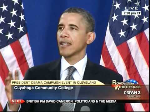 President Obama in Cleveland, Talking About Jobs and the Economy