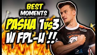 PASHA WYGRYWA 1vs3 W FPL-u !! S1MPLE I PATITEK CLUTCH 1vs5 - CSGO BEST MOMENTS