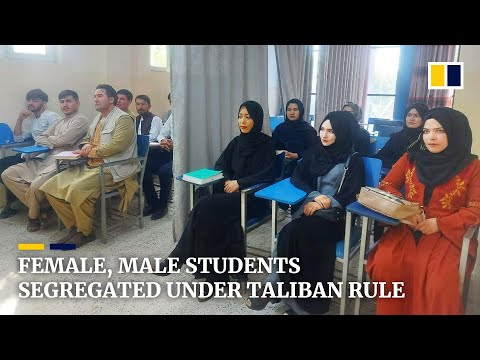 Curtains divide female, male students as Afghan universities reopen under Taliban rule