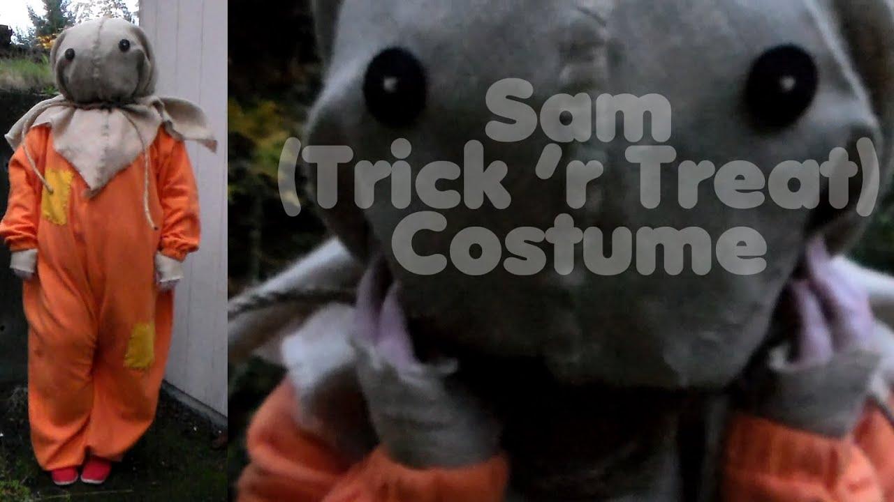 sam trick r treat costume halloween 2014 youtube - Trick R Treat Halloween Costume