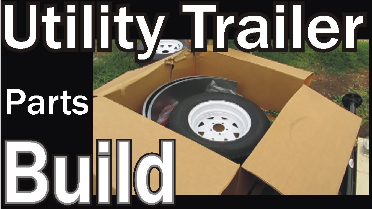 Homemade utility trailer the trailer kit was delivered youtube solutioingenieria Image collections