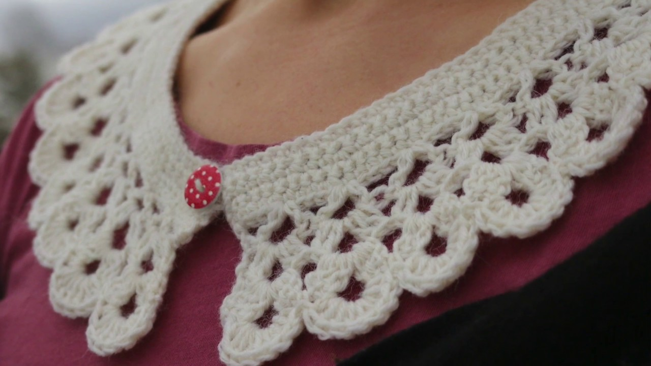 How To Crochet Collar Peter Pan Collar Lace Collar Youtube