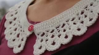 How To Crochet Collar / Peter Pan Collar / Lace Collar