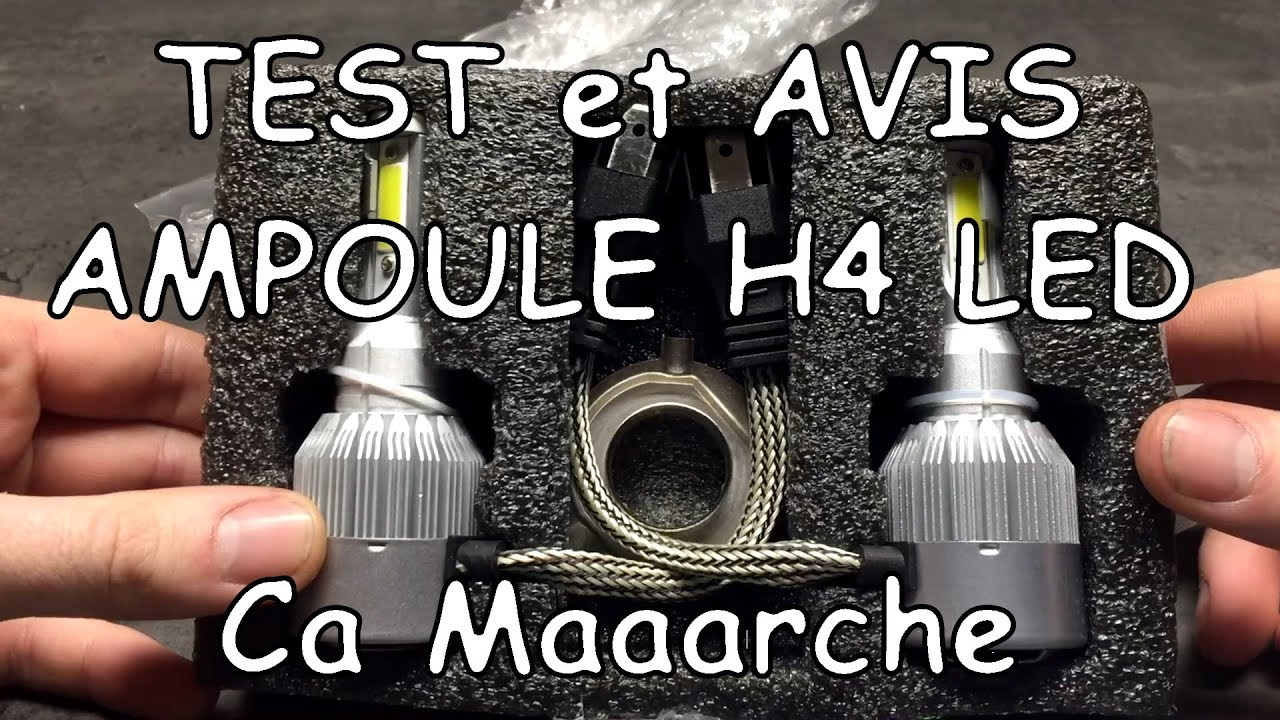 test ampoule h4 led partie 2 un mod le h4 qui convient. Black Bedroom Furniture Sets. Home Design Ideas