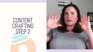 Content Crafting for a Handmade Business Step 2
