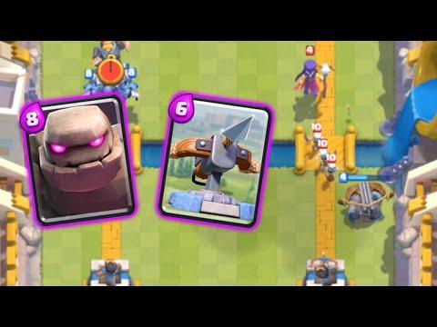 Clash Royale - Attack Strategy: Golem/Xbow COMBO!