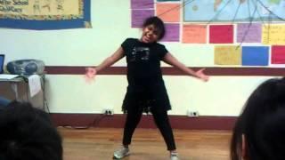 9 years old girl dancing - Boom Boom