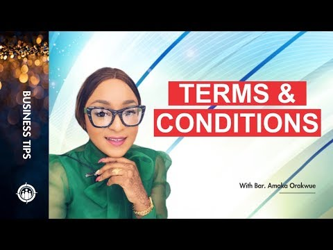 IMPORTANCE OF TERMS AND CONDITIONS