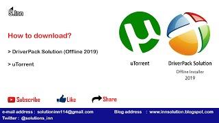 how to download DriverPack Solution Offline Installer 2019 & uTorrent in Urdu