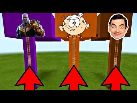 NE CHOISISSEZ PAS LA MAUVAISE ECHELLE SUR MINECRAFT ! ( Lincoln Loud , Thanos et Mr.Bean )