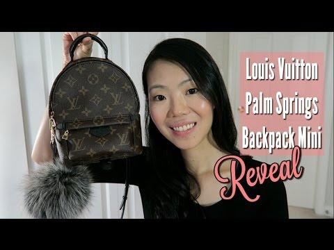 1ea8e82a44ec Смотреть видео Louis Vuitton Palm Springs Backpack Mini First Impression  Review