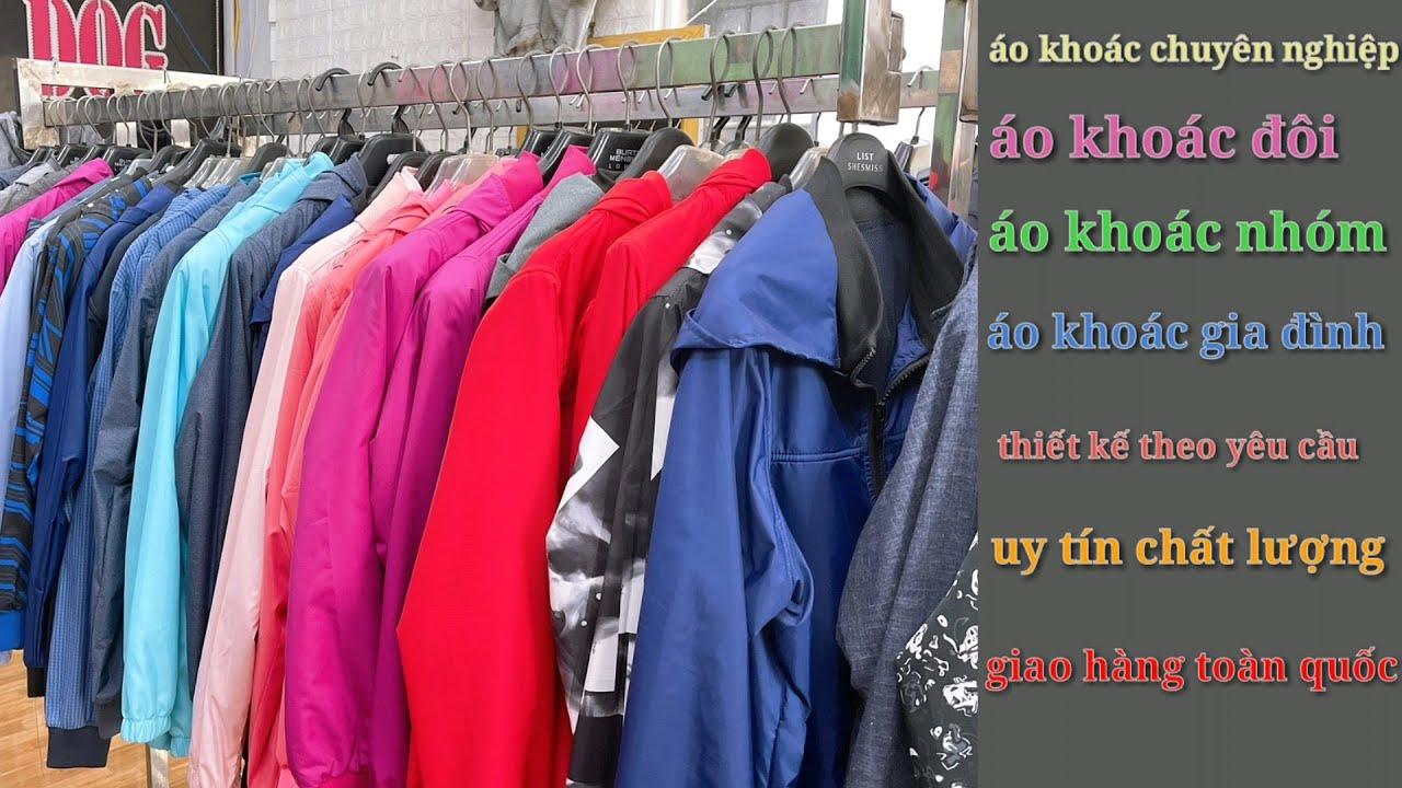 May áo khoác dù 2 lớp #2 may tay và thân áo