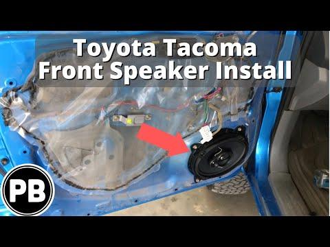 2005 - 2015 Toyota Tacoma Front Door Speaker Install Pioneer 6x9