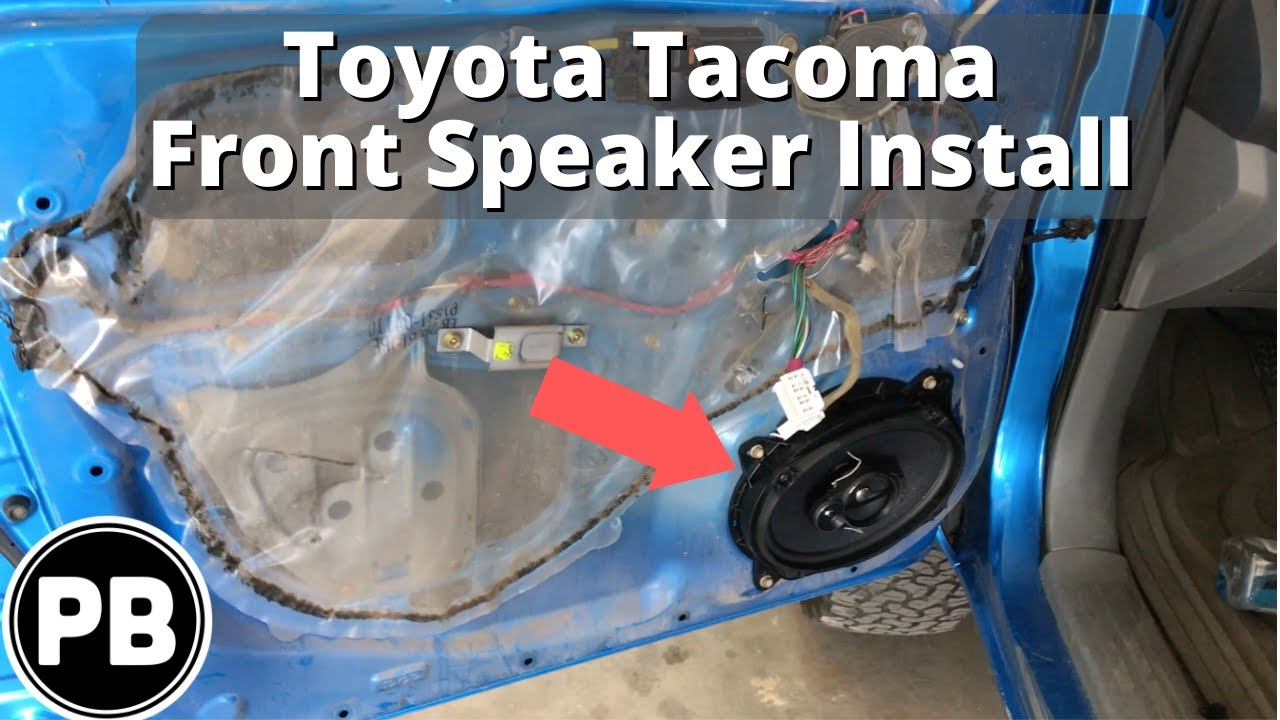 hight resolution of 2005 2015 toyota tacoma front door speaker install pioneer 6x9