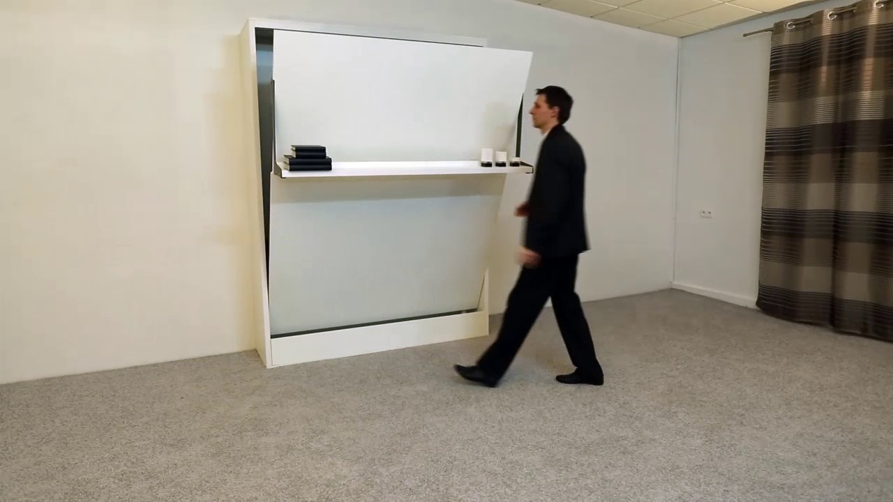 wallbed wandbett schrankbett leggio in 160x200 cm youtube. Black Bedroom Furniture Sets. Home Design Ideas