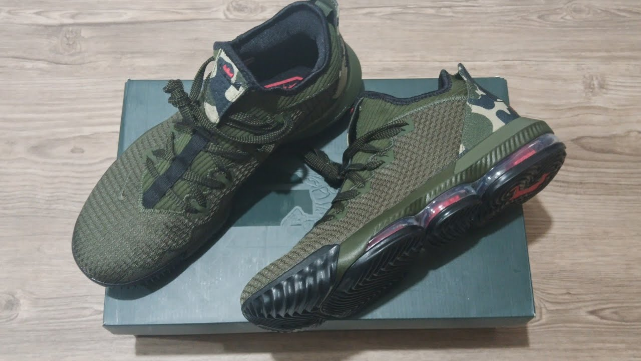 Lebron 16 Low Camo | NIKE | UNBOXING +