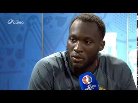 Romelu Lukaku après Belgique Irlande du 18/06 Euro 2016