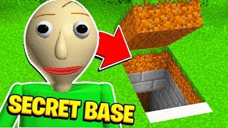Minecraft: Whats INSIDE BALDIS NEW SECRET BASE?! (Ps3/Xbox360/PS4/XboxOne/PE/MCPE)
