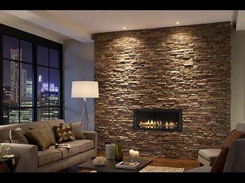 Steinwand wohnzimmer selber machen Wohnzimmer wandgestaltung Wohnzimmer gestalten  YouTube