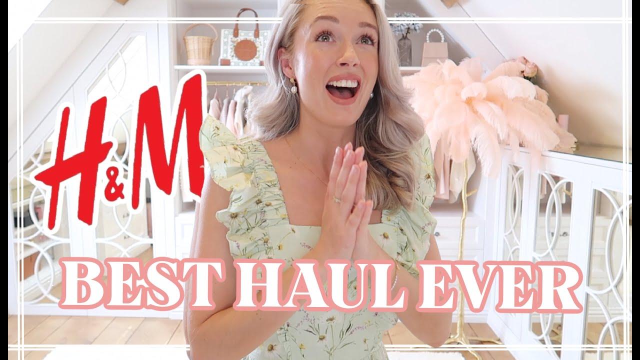 SPRING H&M HAUL // WILDFLOWER 2021 TRY ON // Fashion Mumblr
