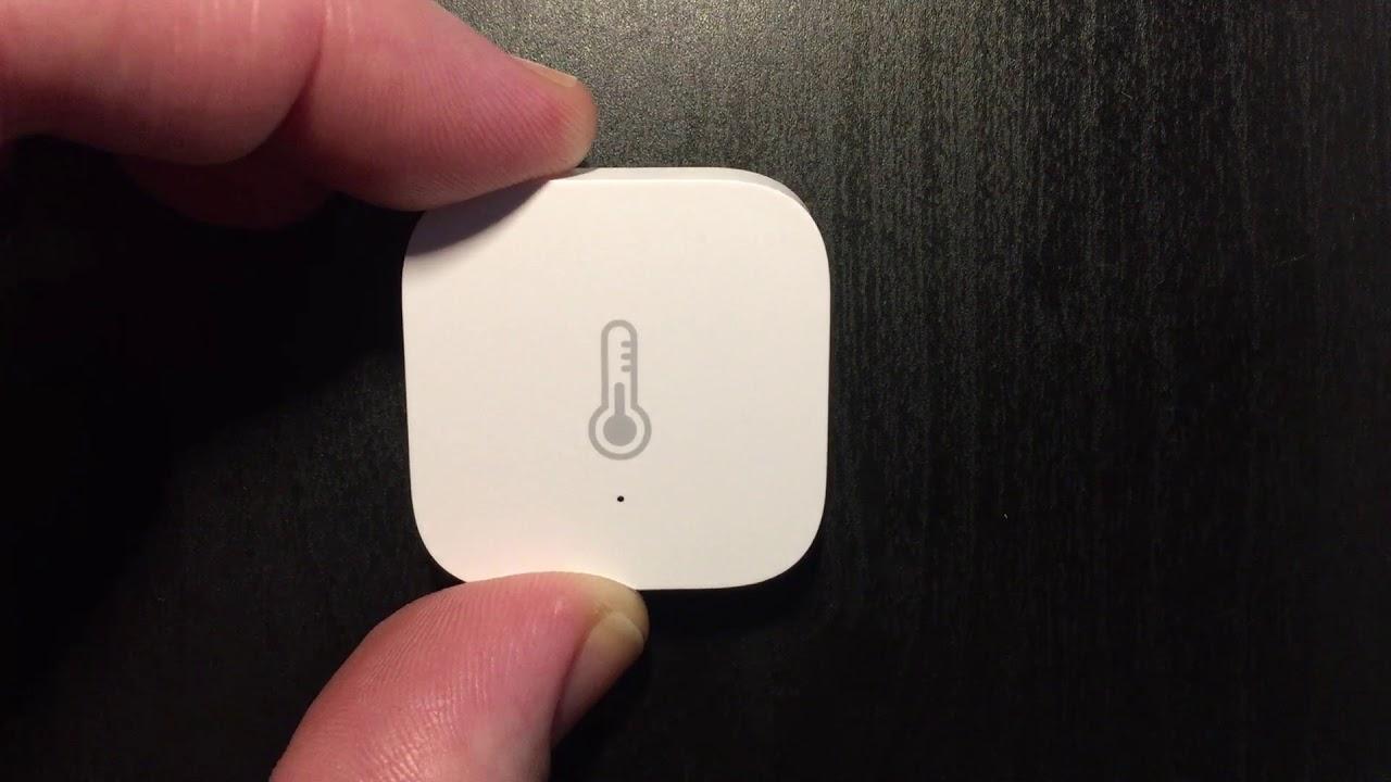 Pairing the Xiaomi Aqara Temperature / Humidity Sensor
