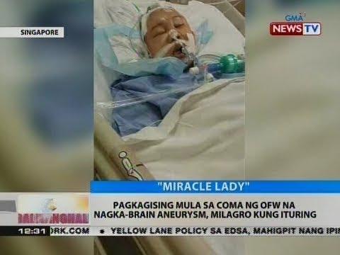 BT: Pagkagising mula sa coma ng OFW na nagka-brain aneurysm, milagro kung ituring
