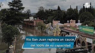 La ciudad se inundó tras las fuertes lluvias y el desfogue de la presa Centenario; la Sedena aplica el Plan DN-III