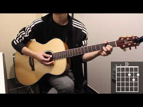 Wonderwall - Oasis Guitar Cover for Beginner Stroke by [Musicdrawing ...