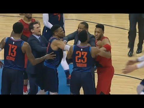 Westbrook, Turner, Ferguson, Davis Technical Fouls! Blazers vs Thunder! 2017-18 Season