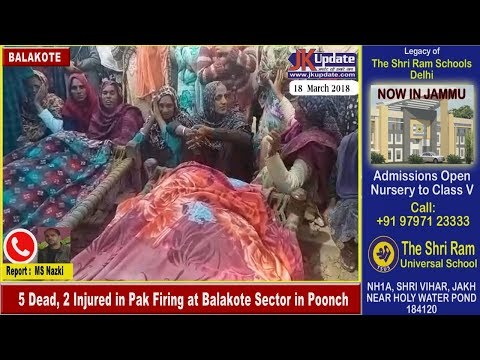 5 Dead, 2 Injured in Pak Firing at Balakote Sector in Poonch