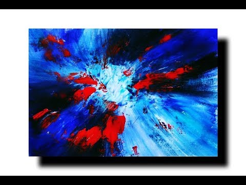 Abstract painting/Demonstration 08/simple & colorful/Acrylic/palette knife