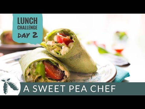 DAY 2: Chicken & Hummus Greek Wrap | A Sweet Pea Chef