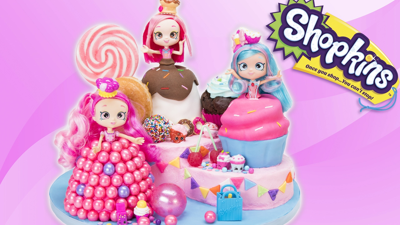 Shopkins Shoppies Cake From The Toys Donutina Jessicakes Bubbleisha Doll Cakes