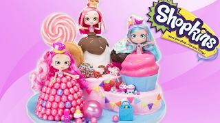 Shopkins Shoppies Cake from the Toys: Donutina, Jessicakes, Bubbleisha (Doll Cakes)