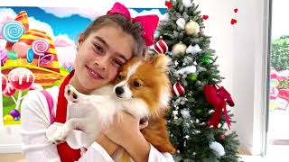 Nastya and Artem stories for children about harmful sweets and candies