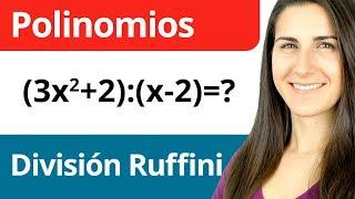 Regla de Ruffini para División de Polinomios - Operaciones con Polinomios #4