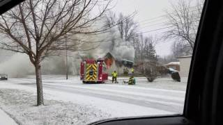 House Fire in Ada, Ohio