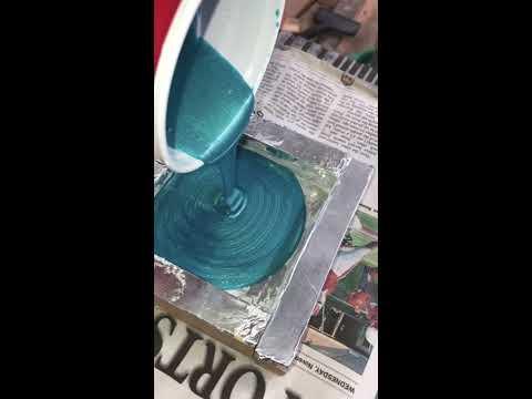 Blue Epoxy Coaster DIY